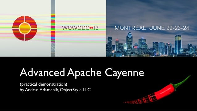 Advanced Apache Cayenne(practical demonstration)by Andrus Adamchik, ObjectStyle LLC