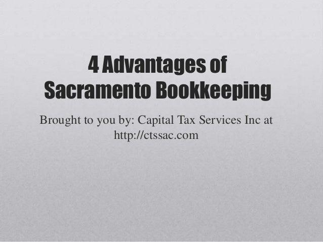 4 Advantages of Sacramento Bookkeeping