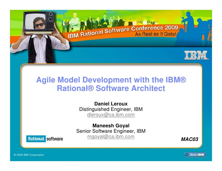 Agile Model Development with the IBM®                       Rational® Software Architect                                  ...