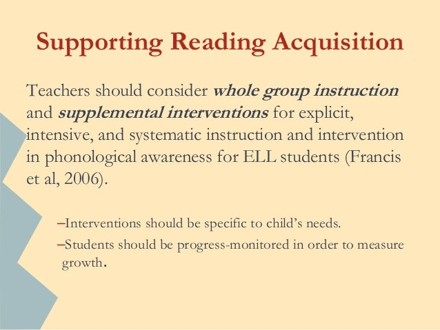 teaching reading to esl students ppt 5 hands on
