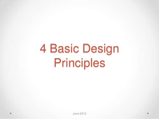 Different Principles Of Design : Basic design principles