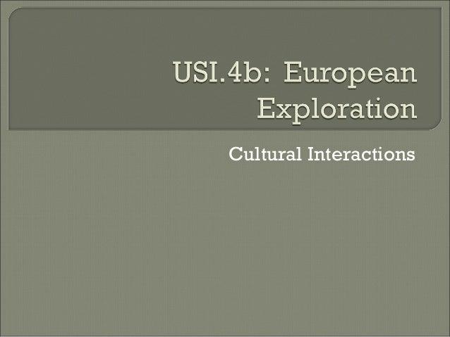 Cultural Interactions