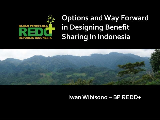 Iwan Wibisono – BP REDD+ Options andWay Forward in Designing Benefit Sharing In Indonesia