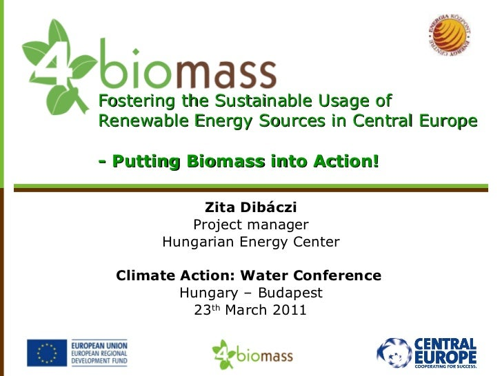 Zita Dibáczi Project manager Hungarian Energy Center Climate Action: Water Conference  Hungary – Budapest 23 th  March 201...