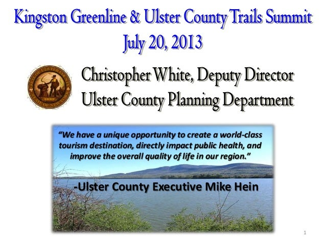 Kingston Greenline & Ulster County Trails Summit - Ulster County Planning
