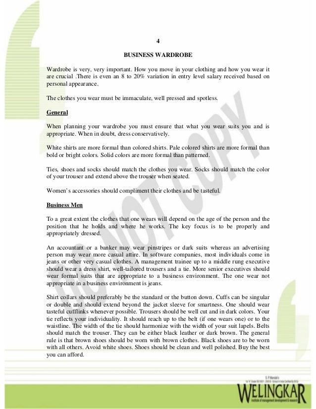 Business Etiquette & Presentation Skills - Chapter 4