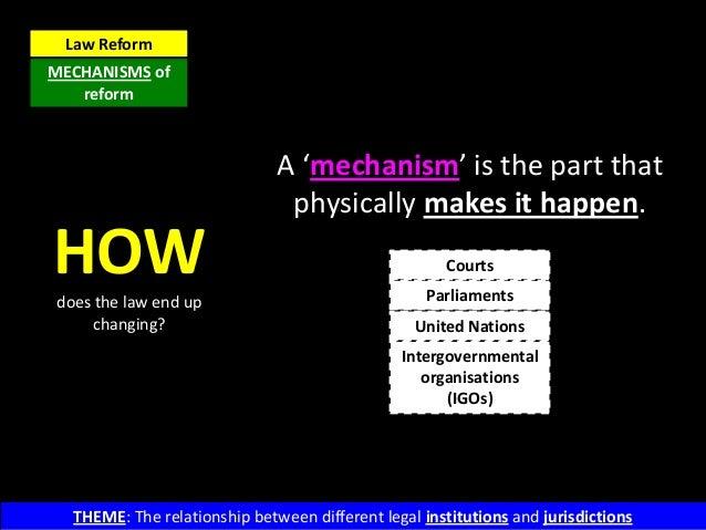 Law Reform - Mechanisms