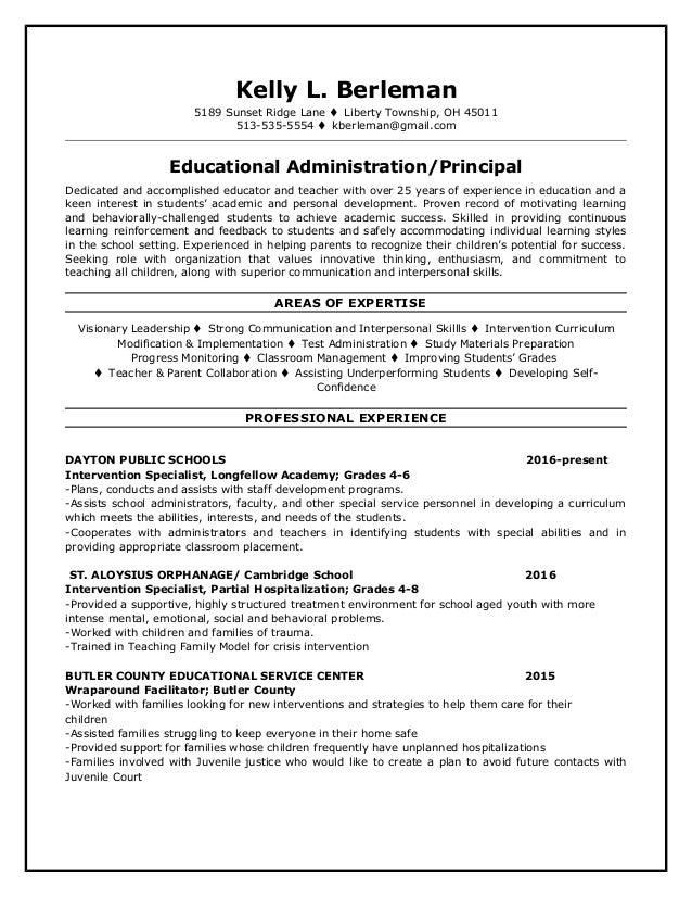 principal resume - Principal Resume