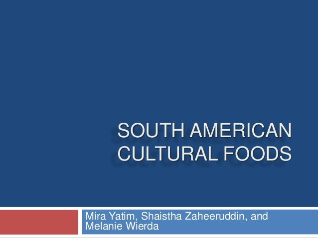 Cultural foods presentation for American cuisine presentation