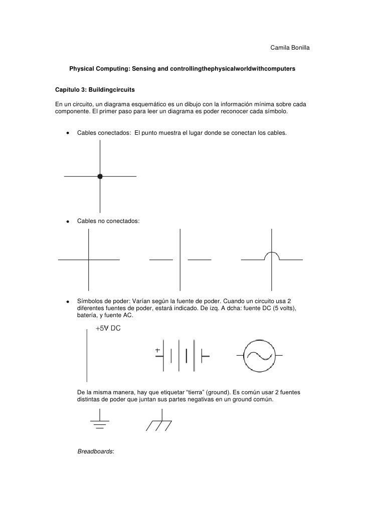 Camila Bonilla     Physical Computing: Sensing and controllingthephysicalworldwithcomputersCapítulo 3: BuildingcircuitsEn ...