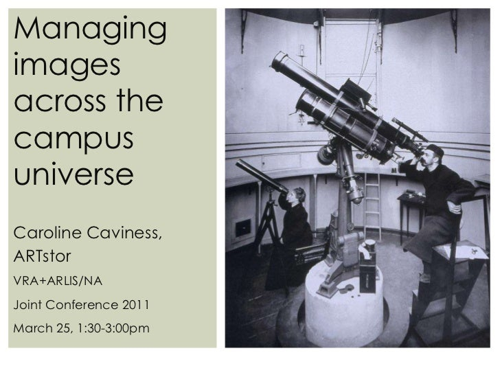 Managing Images Across the Campus Universe