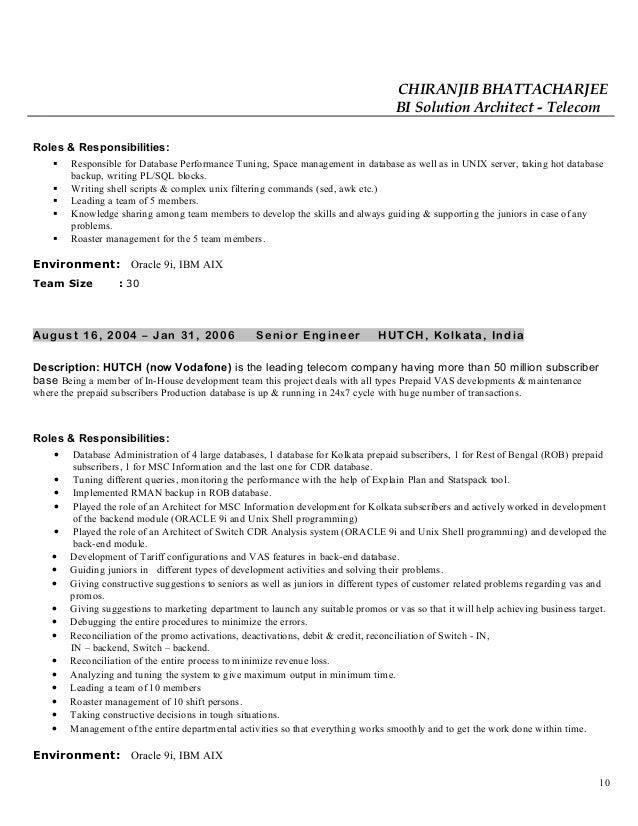 Chiranjib resume
