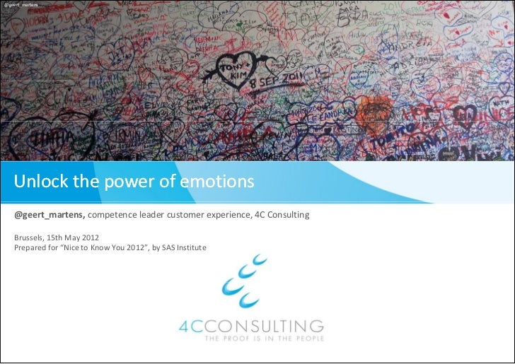 Unlock the power of emotions (#NTKY2012)