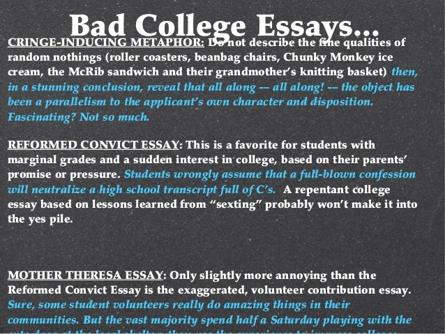 really bad college essays