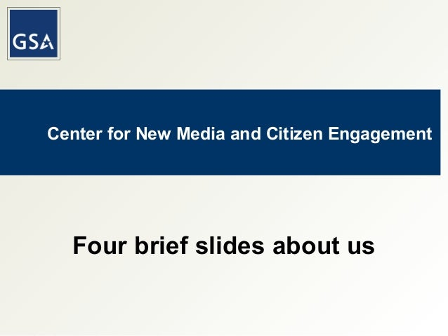 Center for New Media and Citizen Engagement Four brief slides about us