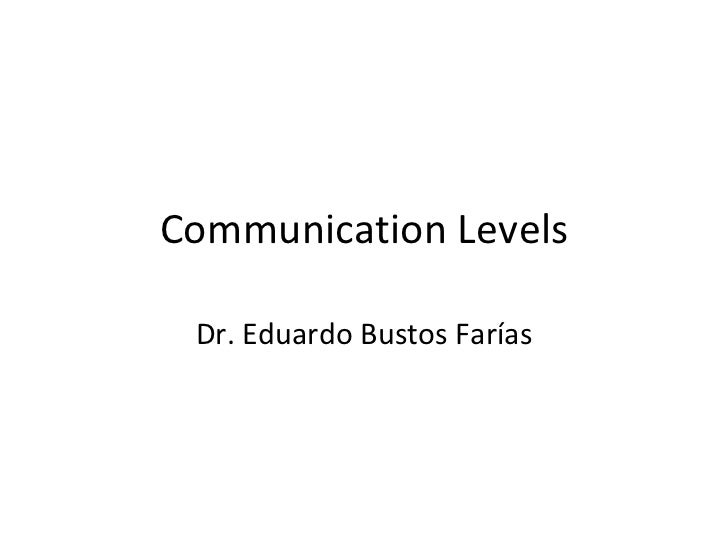 4 communication levels