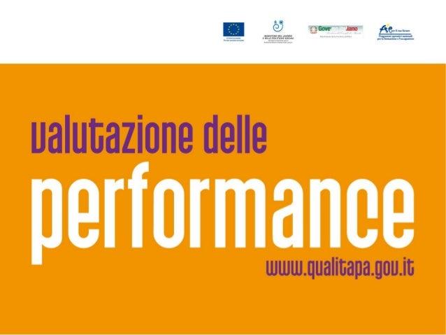 Valutazione e rendicontazione del Ciclo della Performance/4