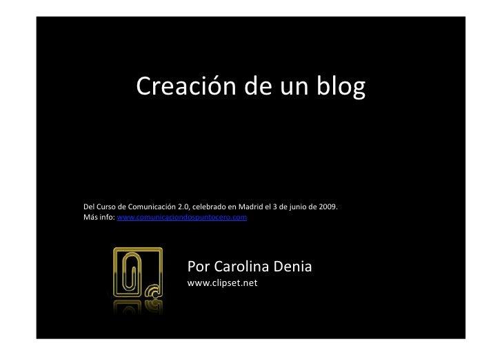 4 Creaciondeun Blog Por Carolina Denia