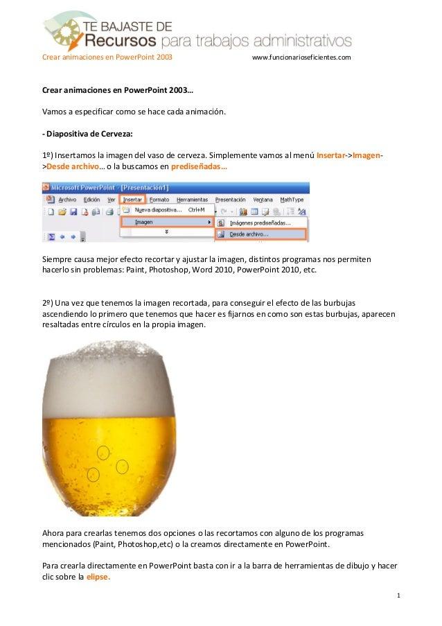 Como crear animaciones en PowerPoint - Tutorial en Español de Funcionarios Eficientes