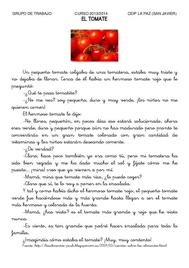 Circuito Productivo Del Tomate : Cuento tomates