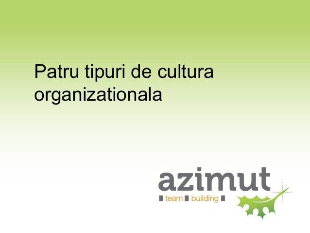 4 culturi organizationale