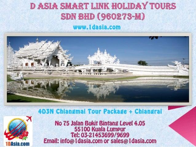 4D3N Chiangmai Tour Package + Chiangraiwww.1dasia.com