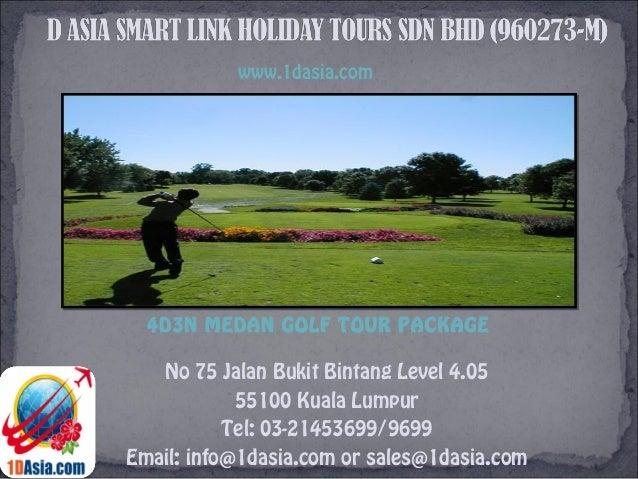 4D3N Medan Golf Tour Package