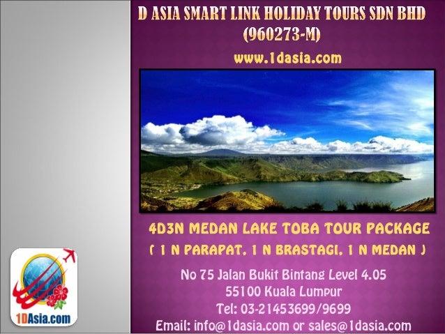 4D3N Medan Lake Toba Tour Package (1N Parapat, 1N Brastagi, 1N Medan)