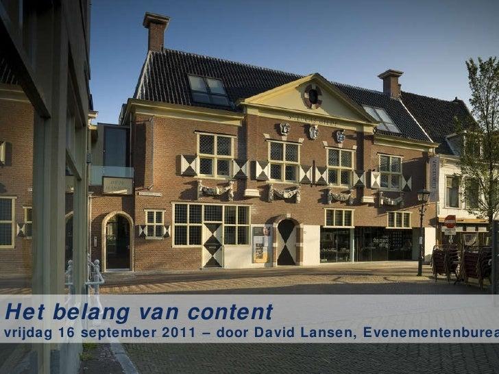 David Lansen - het belang van content