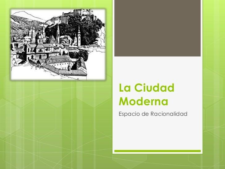 4°MDif -La ciudad moderna