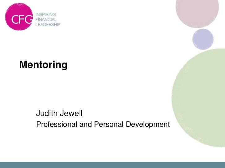 4D - Mentoring - Judith Jewell