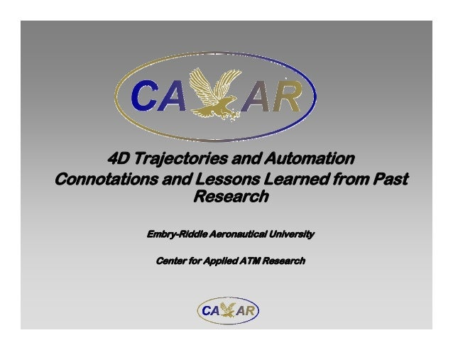 4D Trajectories and Automation Connotations and Lessons Learned from Past Research Embry-Riddle Aeronautical University Ce...