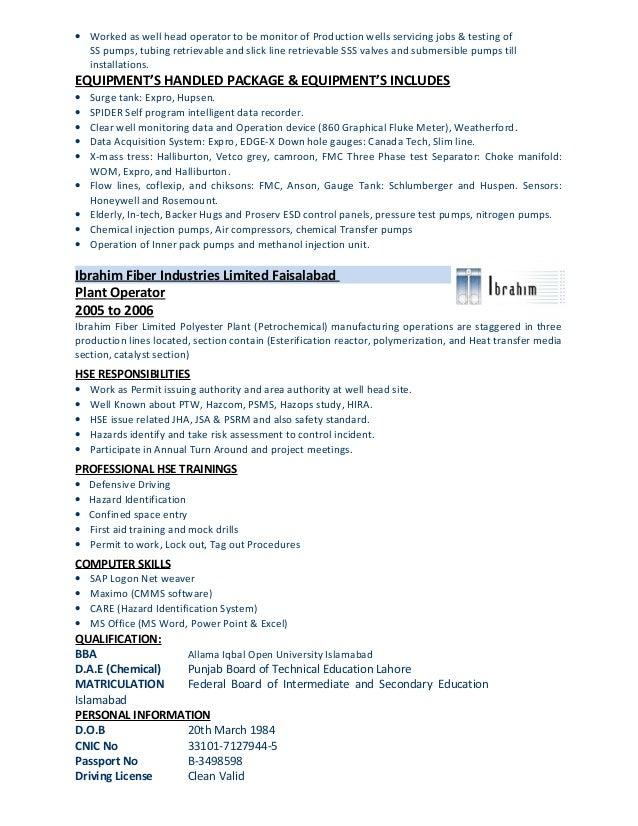 operator resume lou davis resume dec 12 clean extrusion resume