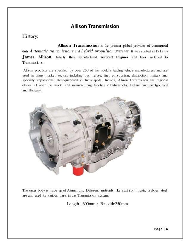 Military Transmission Speed Sensor : Allison training report
