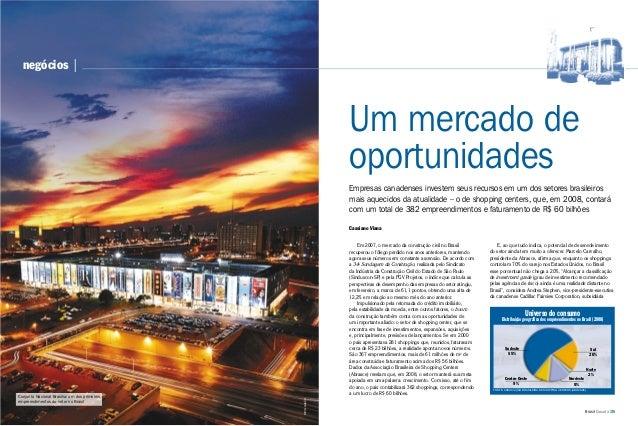 34   Brasil-Canadá negócios   Brasil-Canadá   35 Empresas canadenses investem seus recursos em um dos setores brasileiros ...