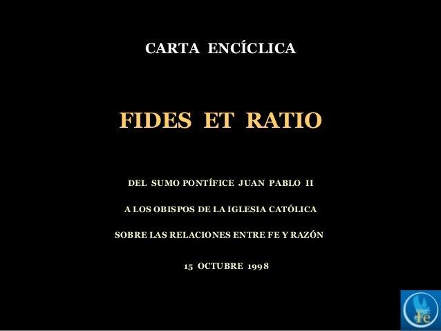 Carta encíclica - FIDES ET RATIO