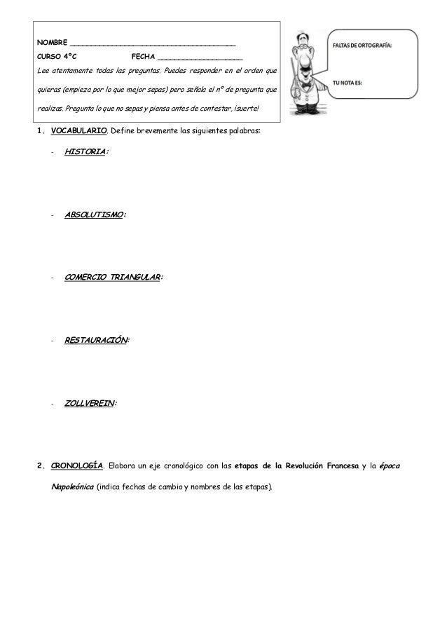 4ºESO EXÁMENES HISTORIA Curso 2013-2014