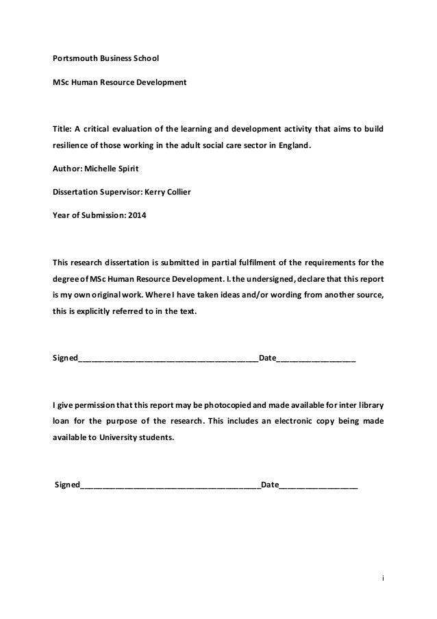 Critical evaluation dissertation