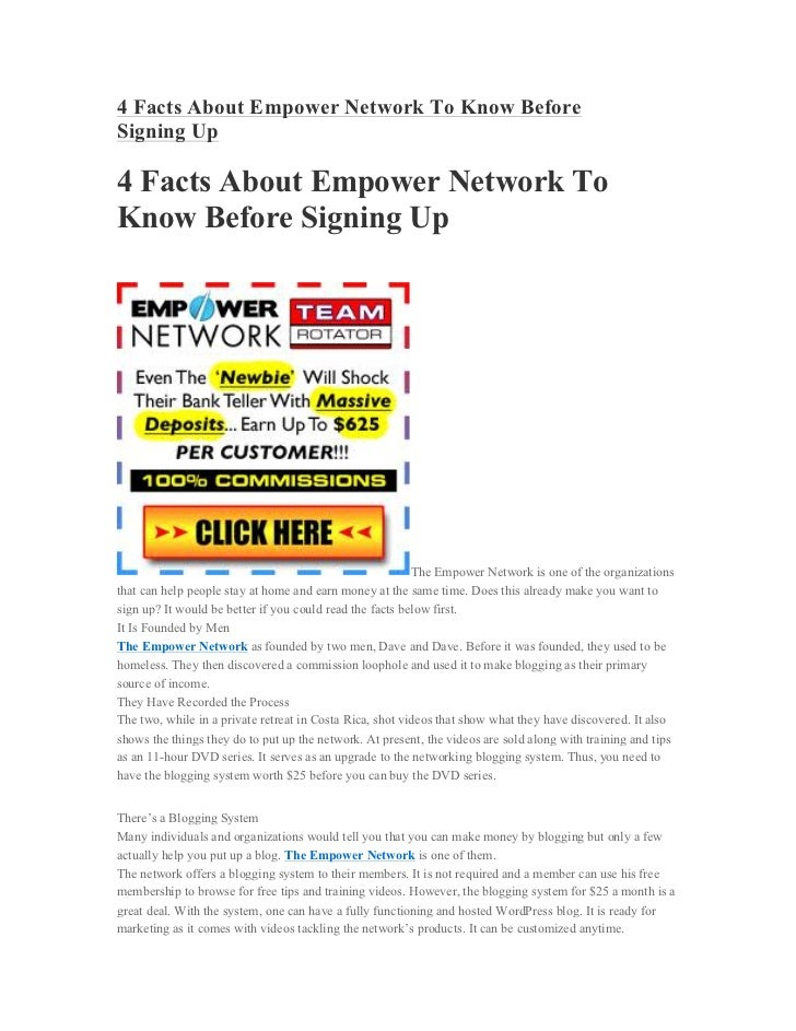4 Facts About Empower Network To Know BeforeSigning Up4 Facts About Empower Network ToKnow Before Signing Up              ...