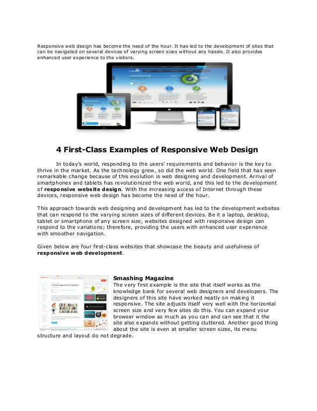 Responsive web design has become the need of the hour. It has led to the development of sites thatcan be navigated on seve...