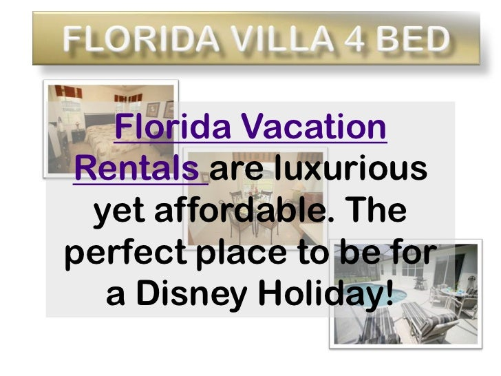 Florida Villa 4 Bed<br />Florida Vacation Rentals are luxurious yet affordable. The perfect place to be for a Disney Holid...