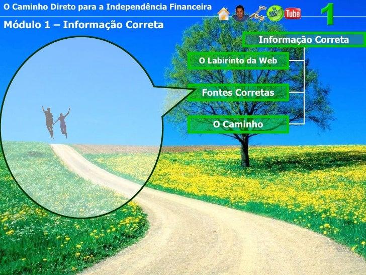 O Caminho Direto para a Independência Financeira Módulo 1 – Informação Correta Informação Correta O Labirinto da Web Fonte...