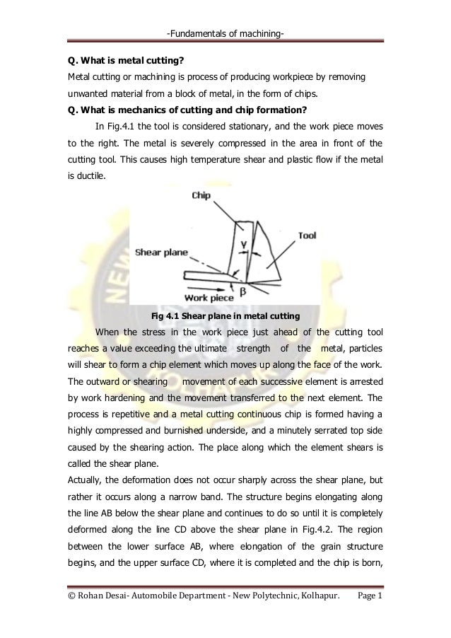 4 fundamentals of machining