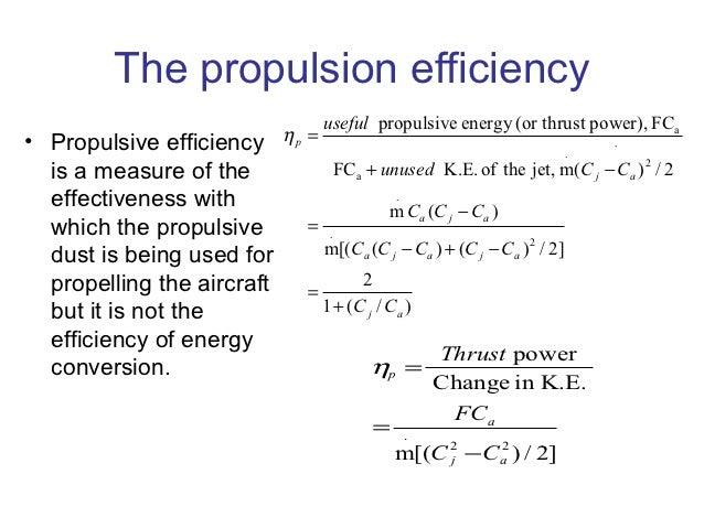 Propulsive Efficiency Equation The Propulsion Efficiency