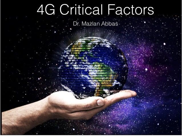 4G Critical Success Factors