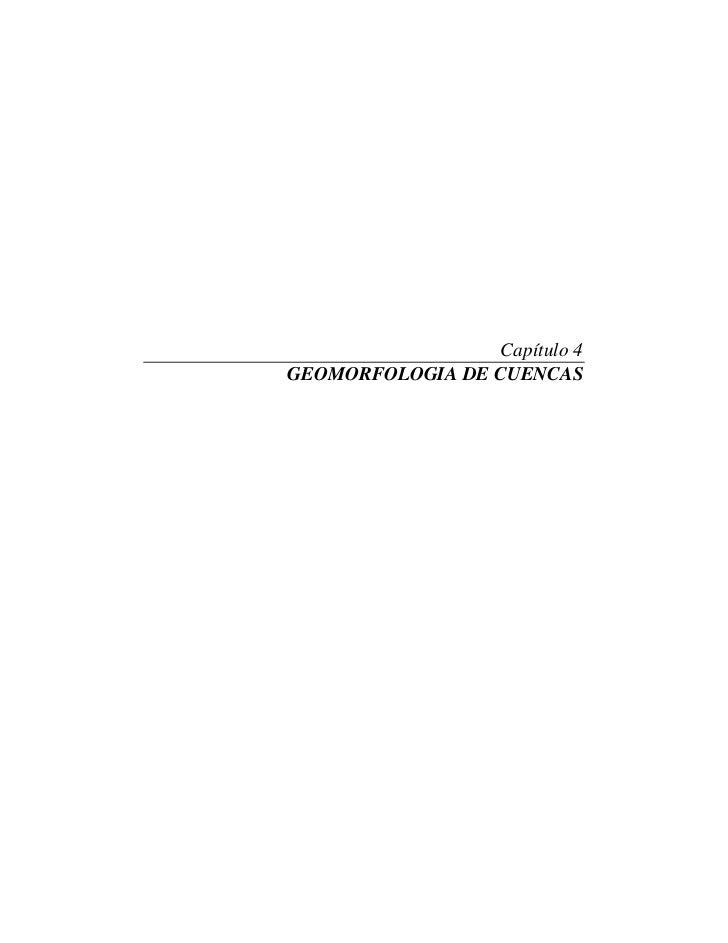 Capítulo 4GEOMORFOLOGIA DE CUENCAS
