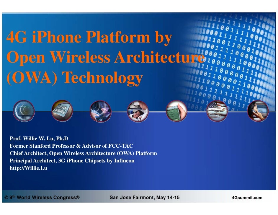 4G iPhone Platform by Open Wireless Architecture