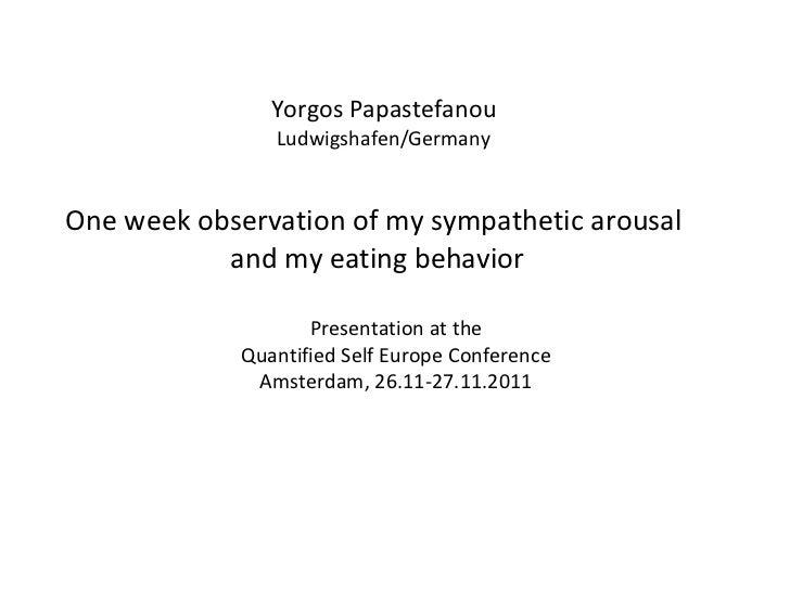 A mobile biofeedback self-experiment: stress and eating - Georgios Papastefanou