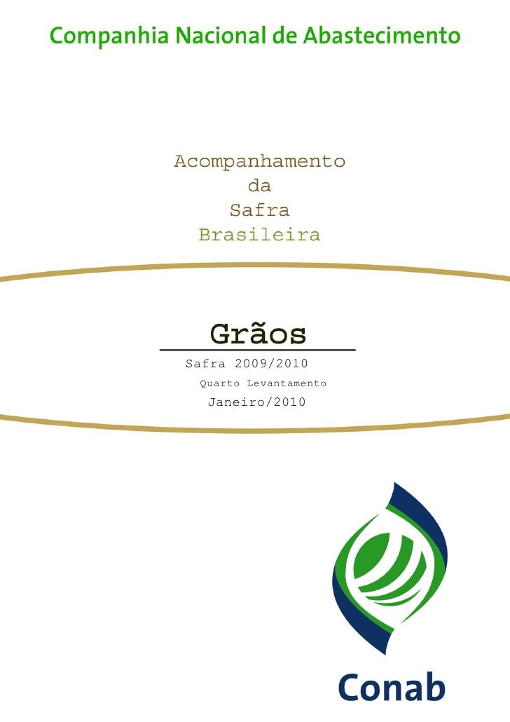 Safra 2009/2010  Quarto Levantamento   Janeiro/2010