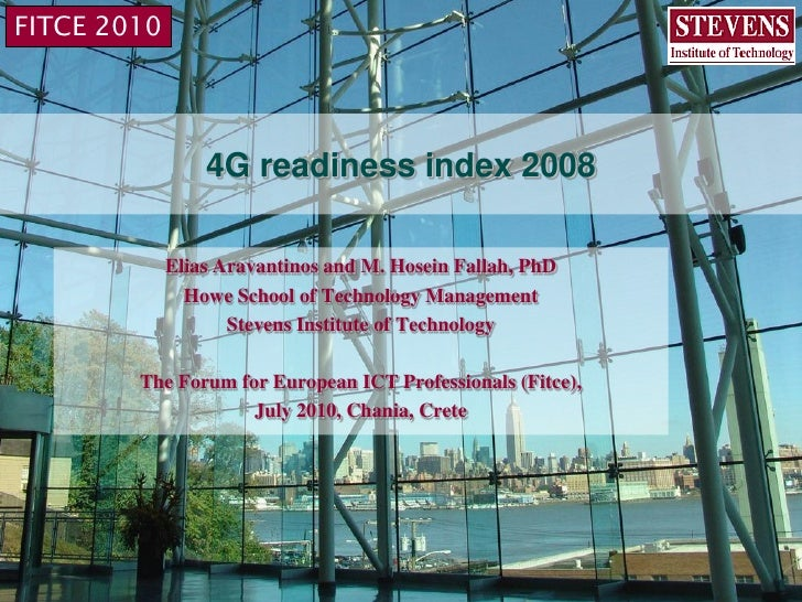 4G readiness index, fitce workshop 2010